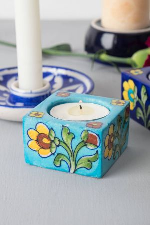 Jaipur Blue Tealights (set of 2)