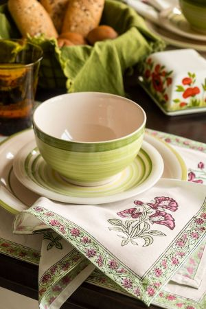 Cerelia Viridis Table Mats and Napkins (Set of 6)