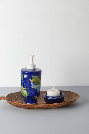 Cobalt Fish Soap Dispenser