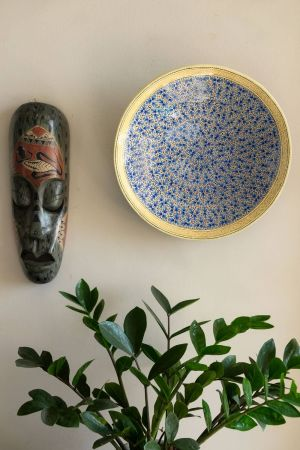 """Blue Chinar Wall Plate (12"""")"""