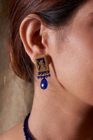 Royal Indigo Earrings
