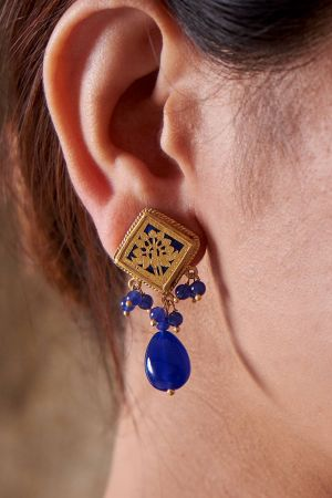 Rajasthani Azure Earrings