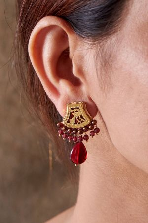 Abha Crimson Earrings