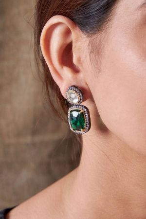 Alpana Emerald Earrings
