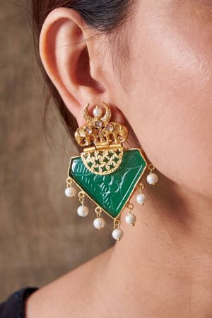 Royal Emerald Earrings