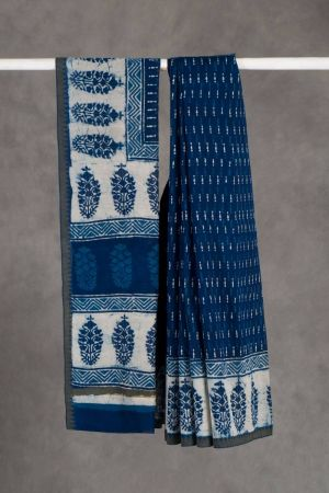 Kandhi Dabu Chanderi Saree (with Blouse)