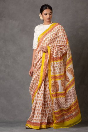 Rangoli Chanderi Saree (with Blouse)