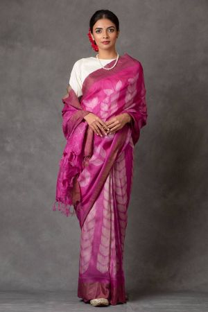 Rani Tussar Silk Saree