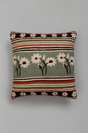 "Virikyom Floral Cushion  Cover (16''x15"")"