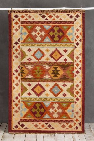 Kshiraj Hand-Knotted  Rug (5ft x 3ft)