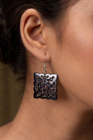 Ziti Hand-Carved Earrings