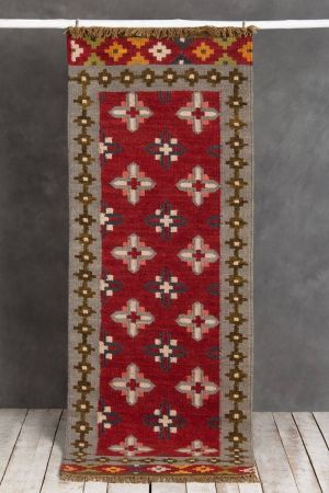 Alborz Fringed Runner (6ft x 2ft)