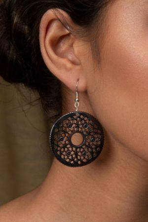 Mecaka Hand-Carved Earrings