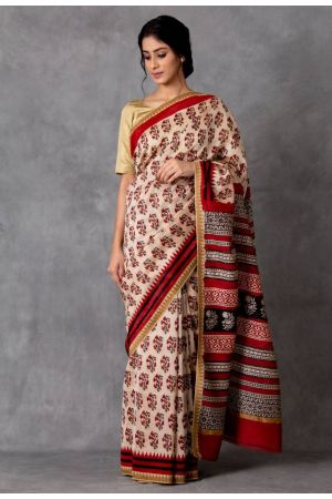 Odra Chanderi Saree (with Blouse)