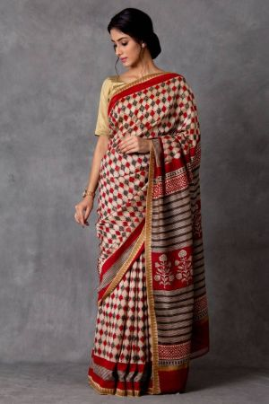 Pratika Chanderi Saree (with Blouse)