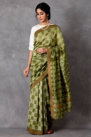 Parna Shibori Chanderi Saree (with Blouse)