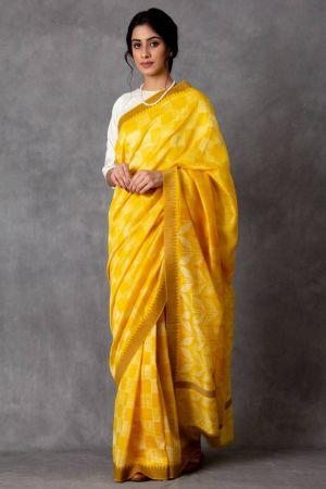 Suvarna Shibori Chanderi Saree (with Blouse)