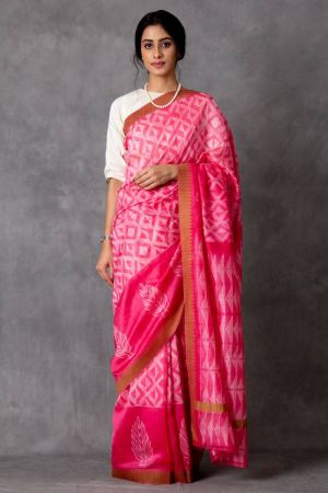 Ruzat Shibori Chanderi Saree (with Blouse)