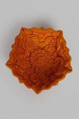 "Adityan Diya (6.75"" x 6.75"" x 2"")- Set of 2"