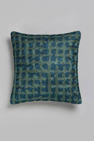 "Dendera Embroidered Cushion (16''x16"")"