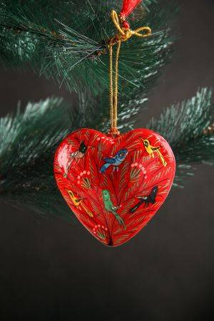 Xmas Hanging Heart (Red)