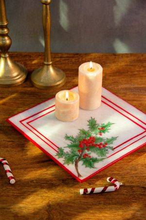 Xmas Marble Plate