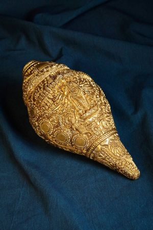 Vishnu Viraat Roop Decorative Brass Conch