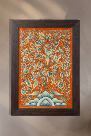 Around the Tree of Life - Tangerine ( 20.5in x 14.5in )