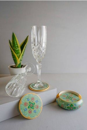 Jade Hand-Painted Coasters