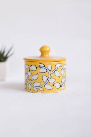 Marigold Cotton Jar