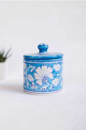 Jaipur Blue Cotton Jar