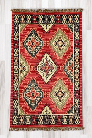Afshar Fringed Rug ( 5ft x 8ft )