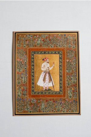 Shah Jahan Minature Portrait