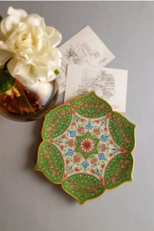 Mughal Marble Decorative Plate
